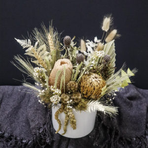 Dried Flower Pot Arrangement